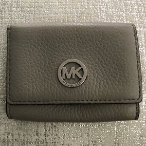 Michael Kors small leather grey wallet